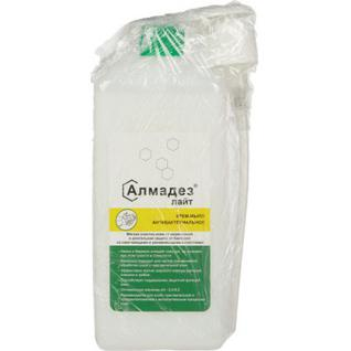 Дезинфицирующее мыло Алмадез-Лайт антибактериальное 1,0 л(с дозатором)