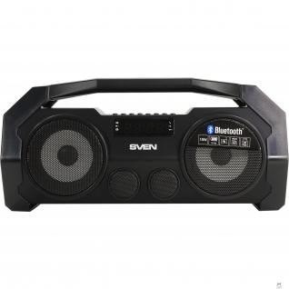 Sven SVEN PS-465, черный (18 Вт, Bluetooth, FM, USB, microSD, LED-дисплей, 1800мА*ч)