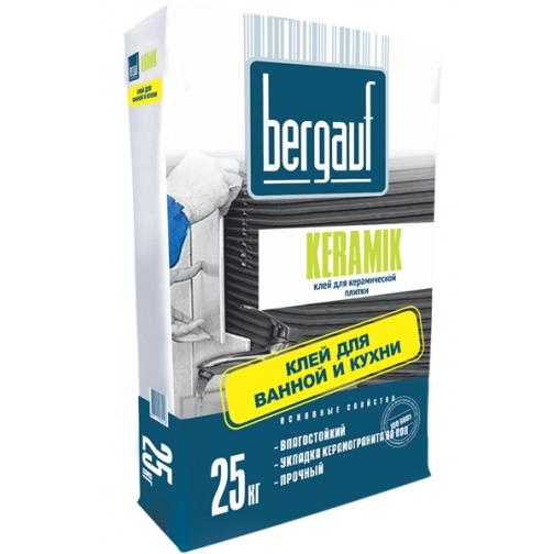 БЕРГАУФ Керамик клей плиточный (25кг) / BERGAUF Keramik клей для керамической плитки (25кг) Бергауф 36984108