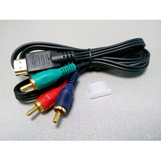 Кабель hdmi на 3-компонентный кабель RCA(тюльпаны)