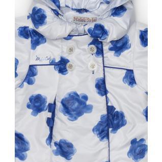 Пальто MalekBaby осень-весна, синие розы 710П