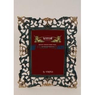 """Фоторамка из бронзы """"Венеция"""" большая, цвет синий с золотом (размер фото 15х20)"""