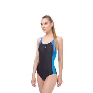 Купальник для плавания совместный Arena Ren One Piece Black/pix Blue/turquoise, 000989 508 размер 38