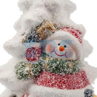 Neon-Night Керамическая фигурка «Елочка со снеговиком» 7.8х6.9х12.1 см