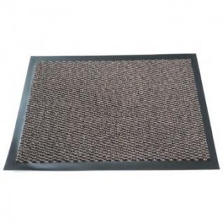 Ковер входной грязезащитный ворсовый на ПВХ основе (600х900мм,коричневый)