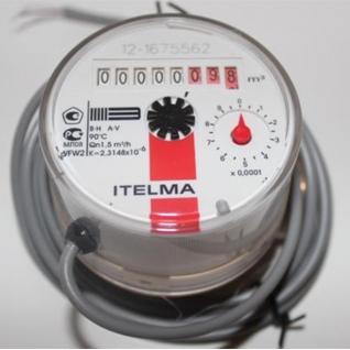Счетчик горячей воды импульсный ITELMA WFW24 ду15