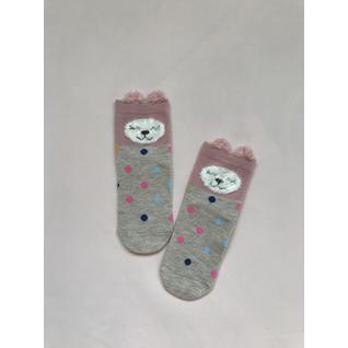 Ф002 носки детские бежевый медведь горох Фенна (12-18) (16)