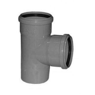Тройник канализационный 100х100х100х90 с кольцом