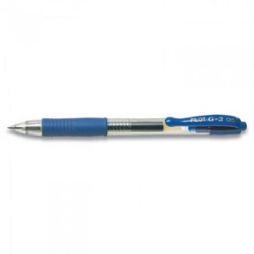 Ручка гелевая PILOT BL-G2-5 авт.резин.манжет.синяя 0,3мм Япония 37872883