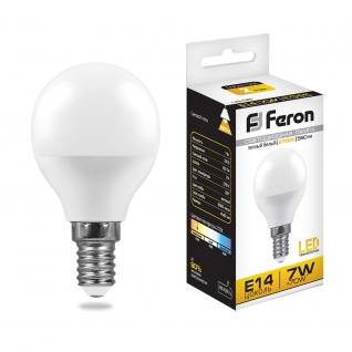 Светодиодная лампа Feron LB-95 (7W) 230V E14 2700K G45