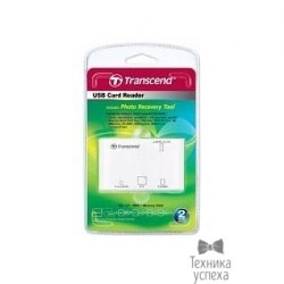 Transcend USB 2.0 Multi-Card Reader P8 All in 1 Transcend TS-RDP8W White