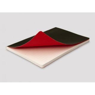Блокнот OXFORD BLACK?n?RED А5 72л фикс.резинка, карман, мягк.обл. 400051204