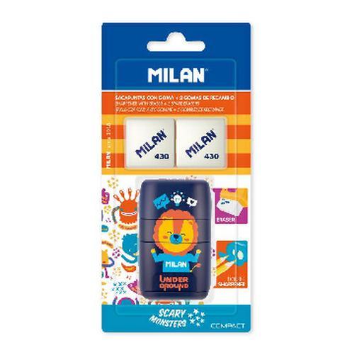 Ластик -точилка Milan Compact UNDERGROUND, блистер BYM10381 +2 ластика (ДС) 42471032