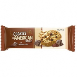 Печенье American Cookies тем.+мол. шоколад 135г