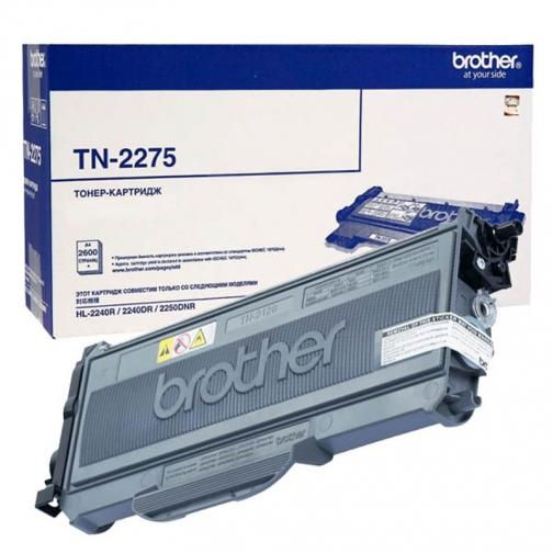 Картридж TN-2275 для Brother HL-2240R, HL-2240DR, HL-2250DNR, DCP-7060DR, DCP-7065DNR, DCP-7070DWR, MFC-7360NR, MFC-7860DWR (черный, 2600 стр.) 4420-01 851909 1