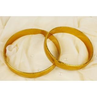 Кольца декоративные № 2, золото/голография