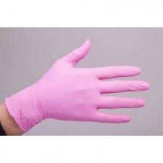 Мед.смотров. перчатки нитрил., нест., н/о, SunViv AN316(L) 50 пар/уп(роз)