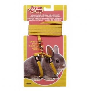Hagen Шлейка с поводком для карликовых кроликов, желтая
