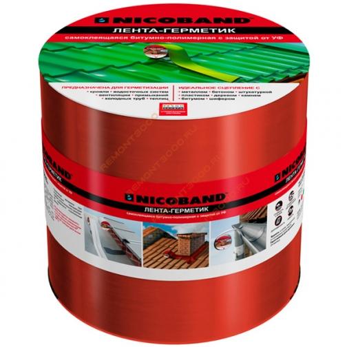 ТЕХНОНИКОЛЬ Никобенд гидроизоляционная лента 15см х 10м красный / NICOBAND гидроизоляционная лента 15см х 10м красная Технониколь 36984022