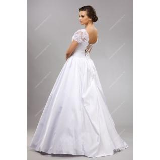 Платье свадебное, модель №112a, с жемчугом