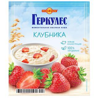 Русский продукт Овсяная каша момент Геркулес с клубникой 35г
