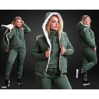 Тёплый спортивный костюм 3-ка 0035