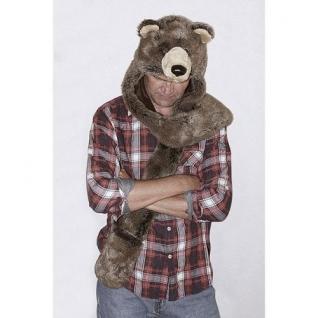 TrueFur Шапка меховая с рукавицами Медведь H0055