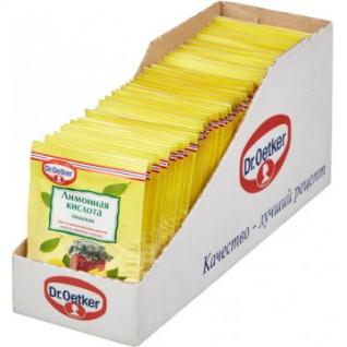 Приправа Кислота лимонная Dr.Oetker 50штx8г