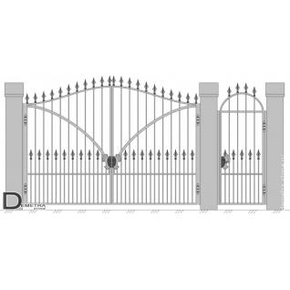 Кованые ворота калитка В-008 (2м x 3.5м)
