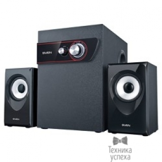 Sven SVEN MS-305 черный акуст. система 2.1, FM-тюнер, USB/SD, дисплей, ПДУ, Bluetooth, мощн. 20 Вт+2х10 Вт, чёрн