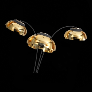 Торшер St Luce Черный/Золото E27 3*40W