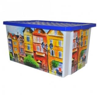 Ящик дляхранения Optima Город 57л, с крышкой