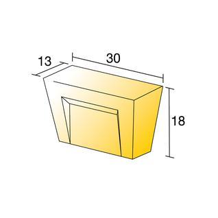 Ручка-кнопка EMUCA RENO 13x30x18 мм цамак матовый хром