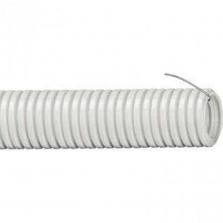 Труба ПВХ гофрированная легкая с протяжкой Рувинил d=20мм 50м