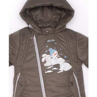 Комплект MalekBaby (Куртка + Полукомбинезон), Без опушки, Хаки арт.412ШМ