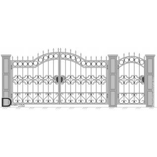 Кованые ворота калитка В-014 (кв.м)