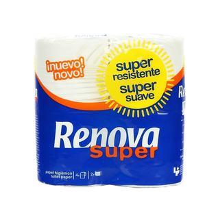 Бумага туалетная двухслойная RENOVA 4 рулона 130 л