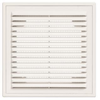 Решетка вентиляционная вытяжная 150*150 с рамкой белая серия ВР Виенто