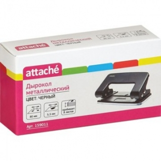 Дырокол ATTACHE 6304 до 10л., металл., черный