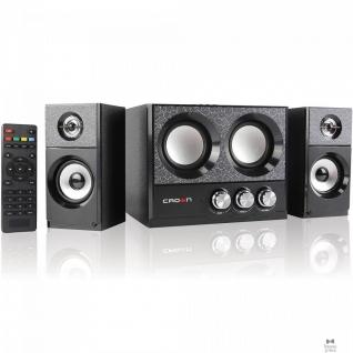 Crown Акустическая система 2.1 CROWN CMBS-161 (МДФ, Bluetooth, 8W+4W*2=16W; приёмник FM; картридер; интерфейс USB; IR пульт)