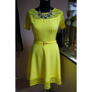 Платье с коротким рукавом 46 размер