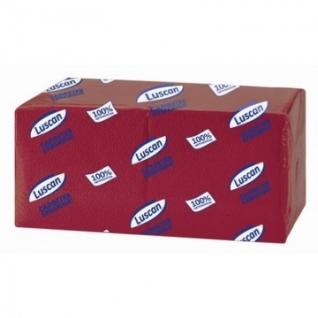 Салфетки бумажные Luscan Profi Pack 1сл24х24 бордовый400шт/уп