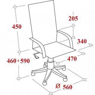 Кресло VB_CH797 сетка, локоть Т, ткань черная (664024)