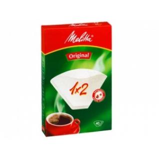 Фильтры бумажные Melitta для заваривания кофе 1х2/40 шт.,белые (0100001)
