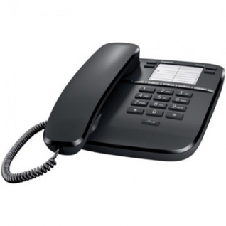 Телефон Gigaset DA310 black,redial,память 14 ном.,регул.громкости