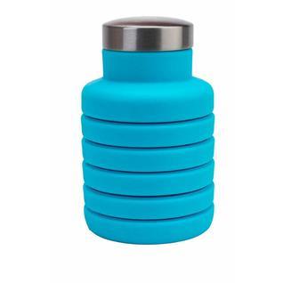 Складная силиконовая бутылка для воды 500 мл (Голубая) Bradex