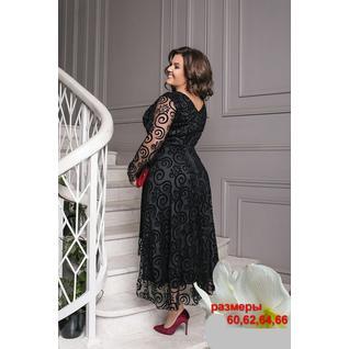 Шикарное вечернее гипюровое платье большого размера 60+