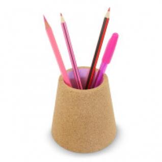 Стакан для ручек пробковый (розовый) J-me