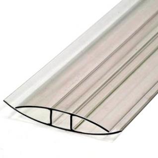 Профиль HP соединительный для поликарбоната 8мм (6м) / Профиль HP соединительный прозрачный для поликарбоната 8мм (6м)