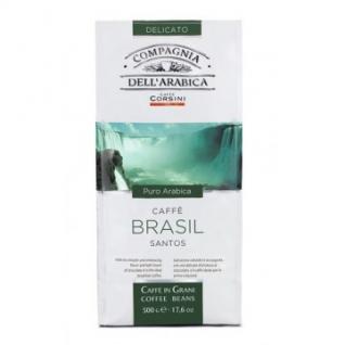 Кофе COMPAGNIA DELL`ARABICA Puro Arabica Brasil Santos в зернах, 500г